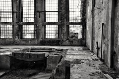 La splendida Signora abbandonata! The beautiful lady abandoned! (henryark) Tags: windows blackandwhite ex glass monochrome iron raw industrial factory rusty sugar tuscany archeology enrico nannini castelfiorentino zuccherificio