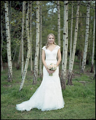 Emily ([Photom]) Tags: wedding portrait 120 film emily 6x7 breadknife troubleandstrife pentax67 kodakportra400
