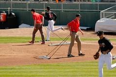 Crew, raking 002 (mwlguide) Tags: people nikon baseball michigan may lansing staff crew leagues d300 2016 midwestleague cedarrapidskernels lansinglugnuts 3121 nikond300 20160503kernelslugnutsd300raw6143121