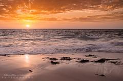 Sunset on the beach (JamieMarie Oaksford) Tags: ocean sea seascape nature clouds skyscape landscape sand australia wa westernaustralia waterwater landscae seawater beautifulnature oceanscape beautifulcolours jindalee beachesofaustralia beachphotogrpahy jindaleebeach