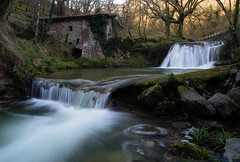 Two Steps (Ekaitz Arbigano) Tags: winter two mill water rio river landscape waterfall spain agua long exposure country steps silk paisaje molino invierno basque euskadi exposicion larga cascada ekaitz sedas belandia arbigano ekarbig
