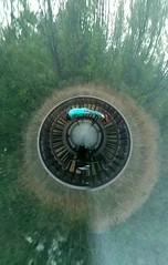 Chesapeake Railway Trail Worm Hole (AngelBeil) Tags: holes lookdown wormhole benches facedown fdt hereios chesapeakebeachrailwaytrail