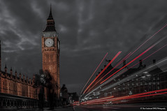 Ghosts of Westminster (Dave Lockwood DA12) Tags: bridge london westminster night outside outdoors nikon outdoor housesofparliament sigma bigben nightshoot nighttime lighttrails 1770 lightroom greaterlondon d5000