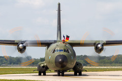 German  AF Transport Alliance C-160D Transall 50+75 (Hugh Dodson) Tags: ypsilanti transall willowrun c160d 5075 germanaf arrivalsday transportalliance thunderovermichigan2015
