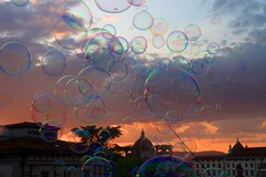 Forever blowing bubbles (thesilvercitizen) Tags: sunset italy florence rainbow colours streetphotography bubbles ilduomo
