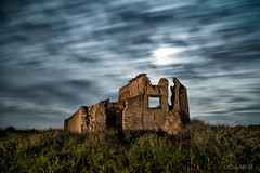 The Poetry Of Forgotten Places. (darklogan1) Tags: longexposure nightphotography moon clouds spring wind toledo adobe poppy logan derelict castille darklogan1