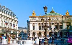 Paris Street Scene - Old Paris Opera House, Paris, France (woodchuckiam) Tags: paris france palaisgarnier parisopera shotfromabus parisstreetscene woodchuckiam oldparisoperahouse