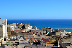 (Ccile Pommeron) Tags: ocean sea sky sun weather soleil view tetti roofs toits sciacca