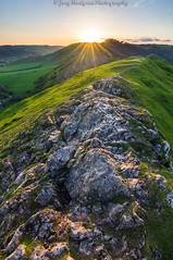 Thorpe Cloud at Sunset (Joey Hodgson *lost everything, now re-uploading*) Tags: uk sunset england sky sun green landscape photography golden rocks unitedkingdom peakdistrict sony hills peaks goldenhour sonya55 joeyhodgsonphotography