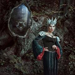 dark Queen (IrinaDzhul) Tags: portrait people woman face forest dark mirror queen fairy crown tale irinadzhul dzhulirina