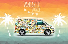 This van will be turned into a vibrant gallery on wheels - be part of it with your favourite snap! (Vantastic.Voyage) Tags: travel camping camp travelling cars smile car gallery tour joy happiness exhibition journey vans colourful van camper touring collective campervan positivity