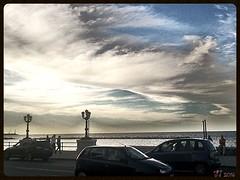 Velature (triziofrancesco) Tags: clouds nuvole lungomare puglia lampioni bari nubi velature