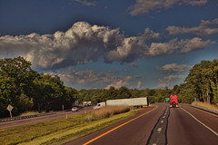 You Thought It Would Be Easy (raymondclarkeimages) Tags: rci raymondclarkeimages 8one8studios canon usa outdoor road traffic ticket truck trucking tractortrailer stupid sky clouds uturn 6d unprofessional summons reckless volvo pictureof driving driver freeway interstate highway 2470mm28 semi transport