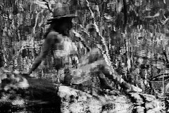 Evelia - Boho Style (Steve Gray) Tags: model modeling pensacola upsideofflorida latina female curvy pretty photographer photography styled shoot style boho bohemian stevengray stevengrayphotography reflection abstract black white hat forest old florida oldflorida portrait beauty latino natural
