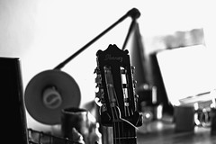 memory (Daniela Evelyn) Tags: blackandwhite music play guitar memories sing singer ibanez goodtimes feels canont3