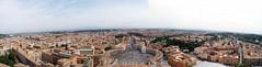 Vista panorámica desde la Cúpula de San Pedro (Alberthox88) Tags: italy rome roma italia panoramic vaticano photomerge sanpietro sanpedro panorámica cúpula