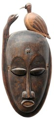 10Y_0902 (Kachile) Tags: art mask african tribal côtedivoire primitive ivorycoast gouro baoulé nativebaoulémasksaremainlyanthropomorphicmeaningtheydepicthumanfacestypicallytheyarenarrowandfemininelookingincomparisontomasksofotherethnicitiesoftenfeaturenohairatallbaouléfacemasksaremostlyadornedwithvarioustrad