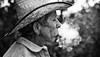 Cigarette Smoke (Yow Wray) Tags: portrait people f14 cigarette smoke puebla 30mm cigarettesmoke bw7