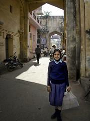 School Girl - D7K 1524 ep (Eric.Parker) Tags: india muslim hijab schoolgirl niqab jaipur rajasthan 2012 2011 sanganer