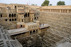 The amazing Chand Baori stepwell (Saumil U. Shah) Tags: travel india history tourism monument beautiful architecture steps deep tourist historic well jaipur levels rajasthan stepped shah chand historicindia stepwell  saumil baori  incredibleindia abhaneri saumilshah bandikui