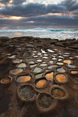 Coastal Potholes (D Breezy - davidthompsonphotography.com) Tags: california sunset seascape clouds canon reflections coast sandiego lajolla pacificocean puddles lightbeams potholes bigwaves davidthompson 5dmarkii