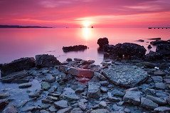Ankaran shoreline (Alja Vidmar | ADesign Studio) Tags: pink sunset sea clouds cokin gnd nd4x nd8x sunsetshore