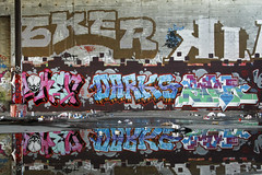 Joker, Darks & Sacr (Say Cheese & Die) Tags: reflection graffiti bay san francisco east area joker sacr sker darks