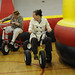 Tricycle racing was a crowd favorite at the employee appreciation day festivities.