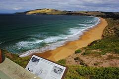 Clifton Beach (Trains In Tasmania) Tags: beach nature walk australia lookout bushwalking tasmania cliftonbeach southarm frederickhenrybay coastalscenary capedeslacs tasmanianscenary