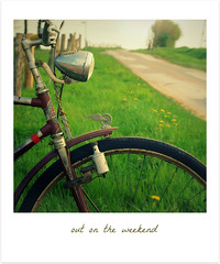Out on the weekend (macfred64) Tags: blur fence dof blurred countryroad textured vintagebicycles polaroidstyle vintagetones outontheweekend