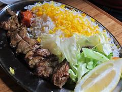 Lamb Kebab with Rice (su-lin) Tags: food london lunch restaurant persian iranian kebabs patogh