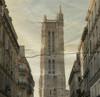 1112 Paris-Tour Saint-Jacques 2 (Nebojsa Mladjenovic) Tags: city light sky urban mist paris france art texture monochrome digital french outdoors lumix frankreich tour panasonic architektur frankrijk francia francais oldpostcard fz50 svetlost toursaintjacques mladjenovic