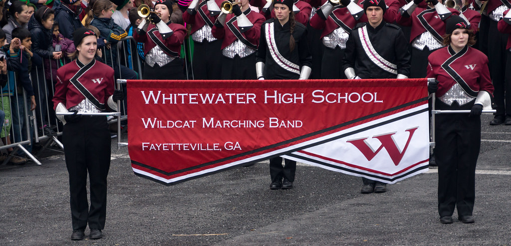 Wildcats Marching Band, Georgia (USA) Perform On St. Patrick's Day In Dublin