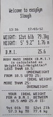 EasyGym - Body Statistics (T3G) Tags: easy gym weight height bmi bodymassindex easygym bodystatistics bodystats