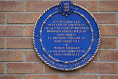 Photo of John Rogers and Martin Beckman blue plaque