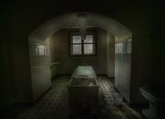 basement mortuary  : (andre govia.) Tags: building abandoned hospital dark table dead body basement andre creepy explore horror sanatorium asylum ue urbex mortuary mourge govia