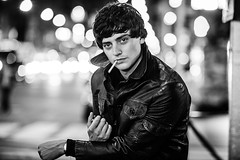 Aneurin Barnard (Adam Lerner) Tags: nyc newyorkcity portrait blackandwhite celebrity night movie bokeh manhattan rockefellercenter smoking midtown bbc actor stills moviestills streetshot nocturnes davidbailey adamlerner aneurinbarnard welltakemanhattan httpadamlernernet