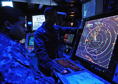 A Sailor stands the departure position watch. (Official U.S. Navy Imagery) Tags: usa unitedstates military navy usnavy atlanticocean wwwfacebookcomusnavy