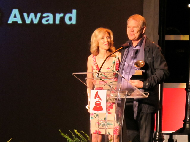 GLEN CAMPBELL receives a lifetime achievement Grammy