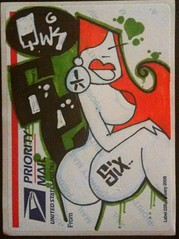 Qwik! n 6e! (Qwik6!) Tags: sexy lady graffiti sticker character stickers cartoon marker sharpie six qwik witeoutpen 228label