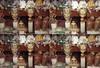 ethnic market (nuo2x2toycam) Tags: bali indonesia four store doll mask puppet market kodak 200 budha quadruple ubud batik toycam colorplus hadicraft disderi nuo2x2 nuo2x2toycam