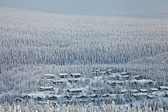 Mkkikyl (Timo Leppharju) Tags: winter mountain snow cabin village lumi talvi tunturi mkkikyl