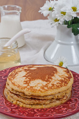 Polenta Pancakes with Buttermilk (kulinarno) Tags: pancakes polenta buttermilk