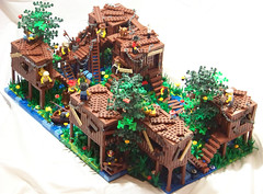 Hillbilly Hideout (Silenced_pp7) Tags: red people brick lego fig gator bricks gators barf prototype swamp minifigs custom hillbilly citizen figures vignette rednecks hideout necks hick moc hicks protos minifigures brickarms brickforge toywiz figbarf brickwarriors