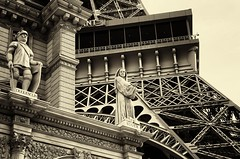 du guesclin & suger (hyimted) Tags: lasvegas eiffeltower statues nv abbotsuger