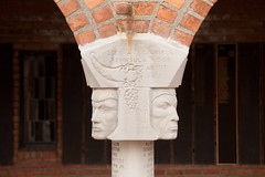 cranbrook school 5 (Doctor Casino) Tags: architecture carved michigan capital architect grapes heads column elielsaarinen cornucopia bloomfieldhills cranbrookschool voussoir 19251928