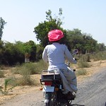 "Rajasthani Guy on a Motorcycle <a style=""margin-left:10px; font-size:0.8em;"" href=""http://www.flickr.com/photos/14315427@N00/6934556615/"" target=""_blank"">@flickr</a>"