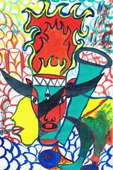PAP-DAV-02 (moralfibersco) Tags: art latinamerica painting haiti gallery child fineart culture scan collection countries artists caribbean emerging voodoo creole developingcountries developing portauprince internationaldevelopment ayiti