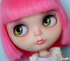 Beatrice's green handpainted eyechips :)