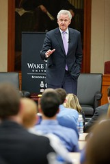 20111004BroyhillLecture019 (wakeforestbiz) Tags: people events business staff ceo speaker schools ge lecture academics broyhill jeffimmelt academicdepartments occasionalevents reinemund wakeforestschoolsofbusiness stevenreinemund
